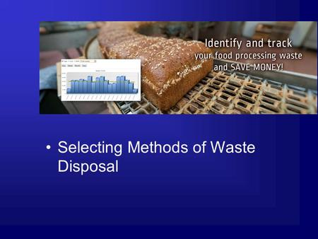 Selecting Methods of Waste Disposal. Next Generation Science/Common Core Standards Addressed! CCSS. ELA Literacy. RST.11 ‐ 12.7 Integrate and evaluate.