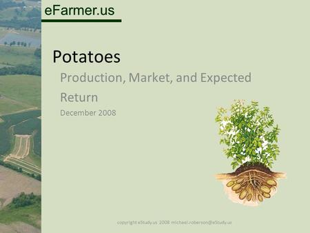 EFarmer.us Potatoes Production, Market, and Expected Return December 2008 copyright eStudy.us 2008