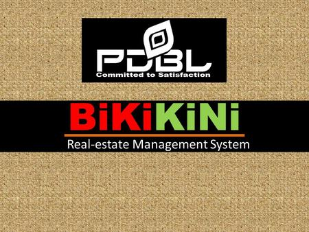 BiKiKiNi Real-estate Management System. Any type of Real-estate Development or land property company are client. Target Client.