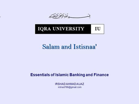 Essentials of Islamic Banking and Finance