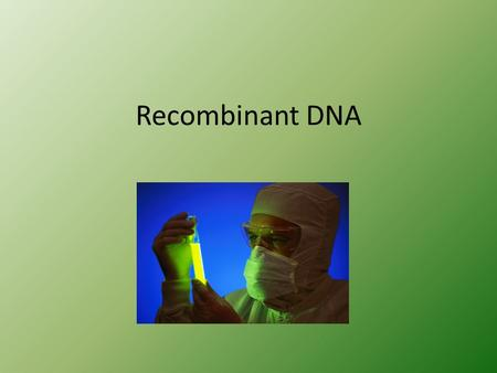 Recombinant DNA. Restriction Enzymes Enzymes that break down DNA by cutting it at a specific site (restriction site) Originally used as cellular defense.