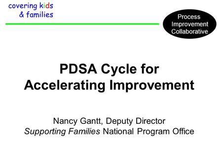 PDSA Cycle for Accelerating Improvement