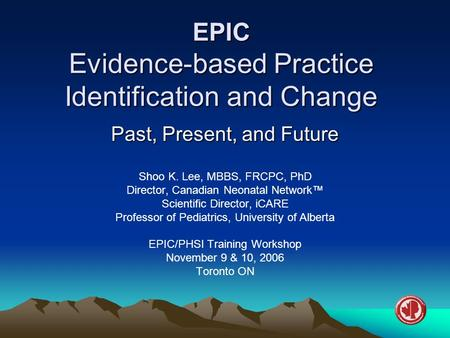 EPIC Evidence-based Practice Identification and Change