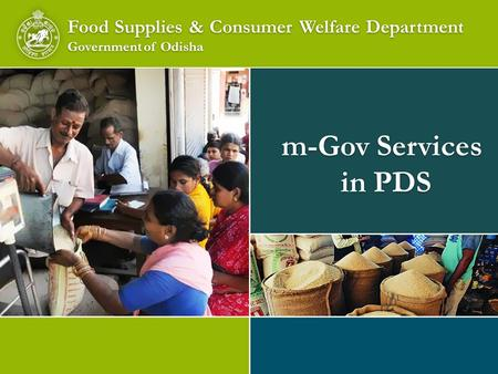 m-Gov Services in PDS Food Supplies & Consumer Welfare Department