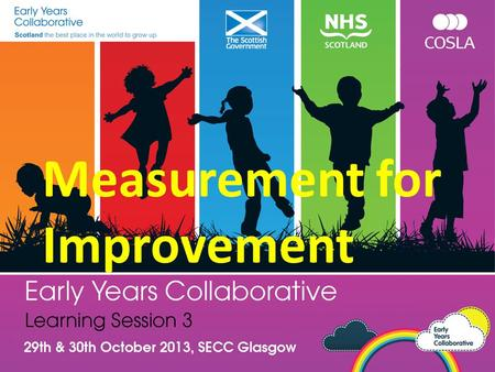 Measurement for Improvement. Turn to your neighbor What have been your biggest learnings or challenges regarding data gathering and measurement for your.