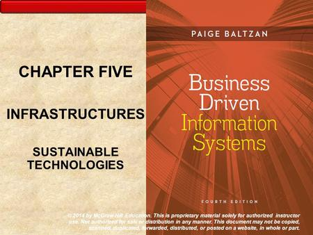 CHAPTER FIVE INFRASTRUCTURES SUSTAINABLE TECHNOLOGIES