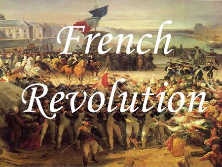 french revolution 6 essay The major causes of the french revolution were the ongoing disputes between the different social classes of french society french revolution essay.