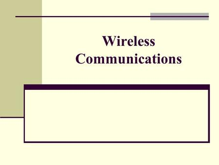 Wireless Communications. Motivation Can we apply media access methods from fixed networks? Example CSMA/CD Carrier Sense Multiple Access with Collision.