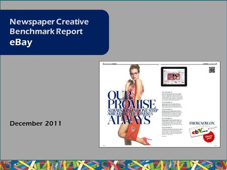 December 2011 Newspaper Creative Benchmark Report eBay.