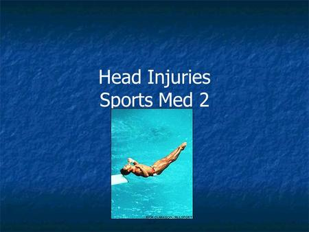 Head Injuries Sports Med 2. Concussion ● the temporary impairment of brain function caused by impact to the head or rotation forces.