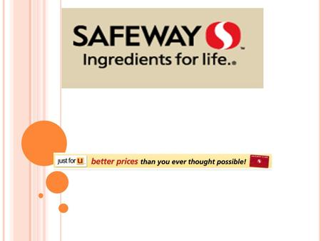 Direct Competitors Competitors of SafeWay would include: Walmart Family Thrift.