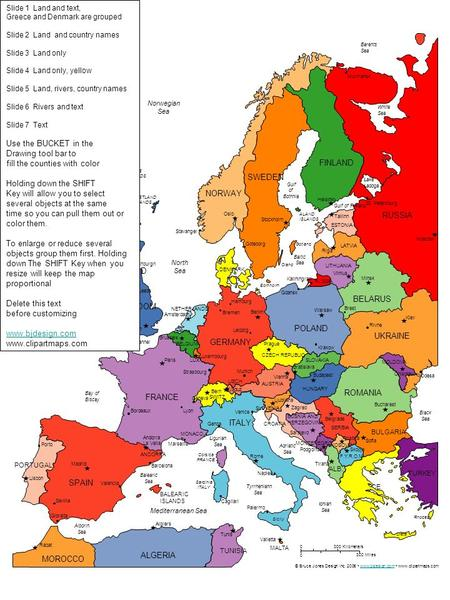 Map Of Europe Ppt Download - Sweden belgium map