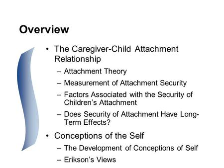 the development of attachment relationship