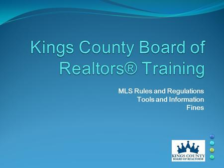 MLS Rules and Regulations Tools and Information Fines.