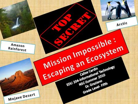 Introduction Topic Secret MISSION IMPOSSIBLE Mission Objective: Special Ops Mission: Escaping an Ecosystem Attention Agents : Your mission, should you.