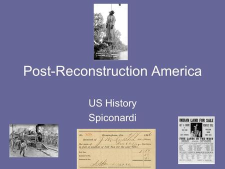 Post-Reconstruction America