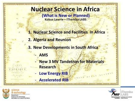 Nuclear Science in Africa