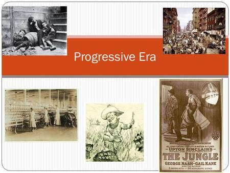Progressive Era. Why Change? From the 1890's to 1920, a reform movement swept the nation as many individuals focused on improving the conditions within.