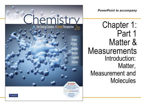 Chapter 1: Part 1 Matter & Measurements