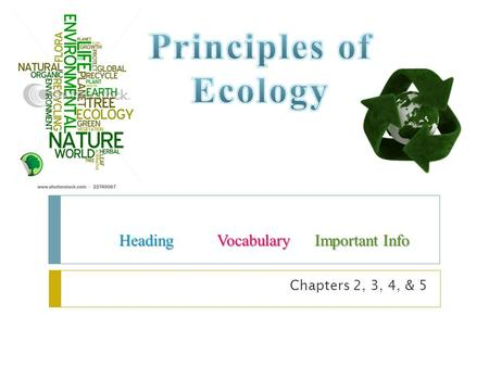 Chapters 2, 3, 4, & 5 HeadingVocabularyImportant Info.