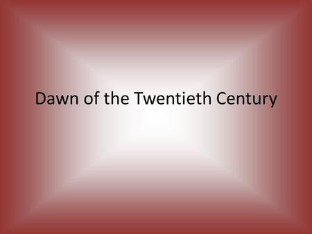 Dawn of the Twentieth Century. White ruling class used its powers to control its own interests Enforced strict segregation Few laws were needed to enforce.