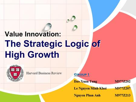 Value Innovation: The Strategic Logic of High Growth