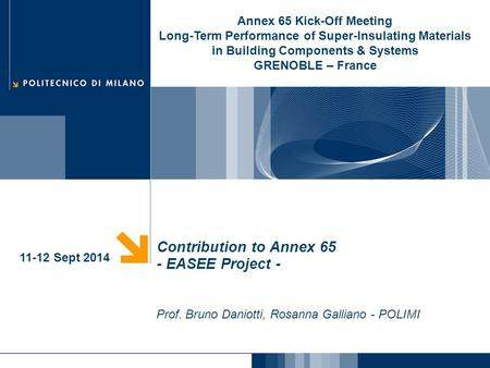 Contribution to Annex 65 - EASEE Project -