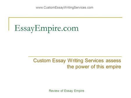 customessaywritingservices.com review Support@customessaywritingservicescom book/movie/article review and that is why we offer custom essay writing services for whatever you need.