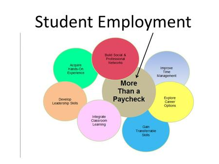 Student Employment. Role of SES Enrich & enhance the students learning experience through part-time employment. To provide work experiences that foster.