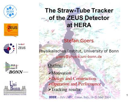 The Straw-Tube Tracker of the ZEUS Detector at HERA