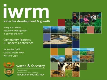 Integrated Water Resource Management Empowering marginalised communities to actively engage in local water management.