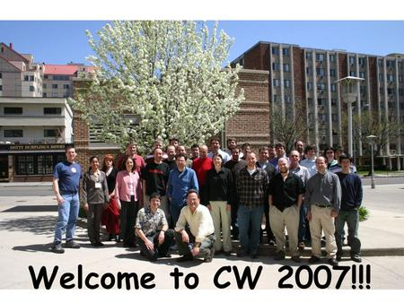 Www.cs.wisc.edu/~miron Welcome to CW 2007!!!. www.cs.wisc.edu/~miron The Condor Project (Established '85) Distributed Computing research performed by.