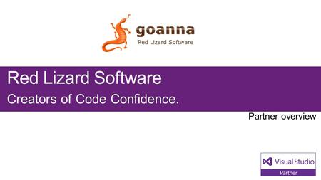 Red Lizard Software Creators of Code Confidence..