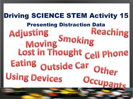 Driving SCIENCE STEM Activity 15 Presenting Distraction Data.
