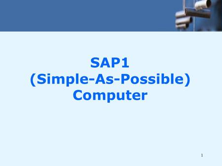 SAP1 (Simple-As-Possible) Computer