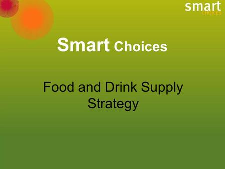 Smart Choices Food and Drink Supply Strategy. Prevalence of overweight and obesity in Australian children, (1985 - 1995)