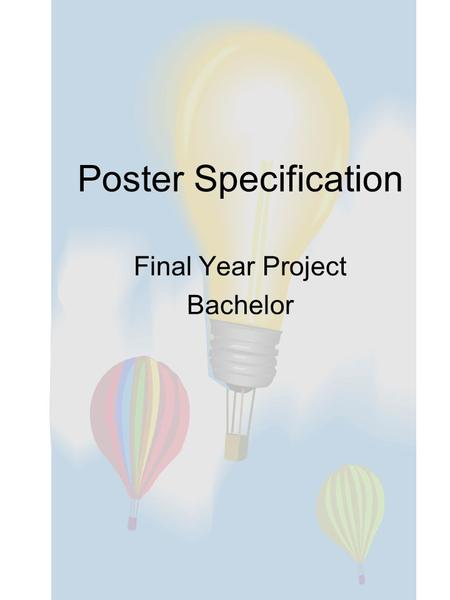Poster Specification Final Year Project Bachelor.