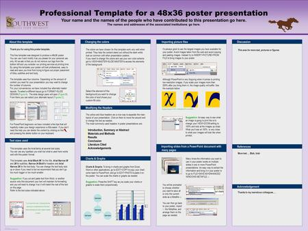 Template For A 72X42 Poster Presentation - Ppt Download
