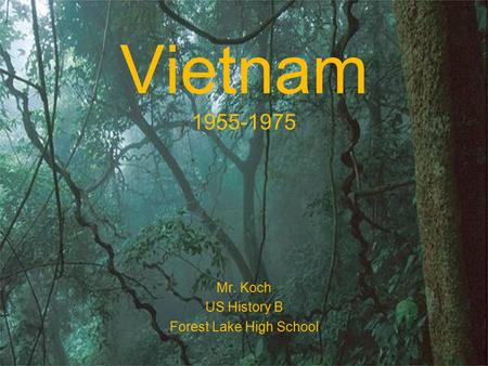 Vietnam 1955-1975 Mr. Koch US History B Forest Lake High School.