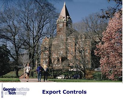 Export Controls: General Overview