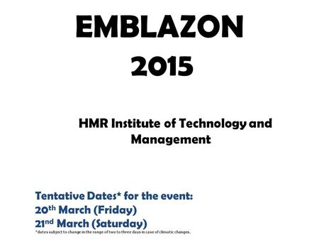 HMR Institute of Technology and