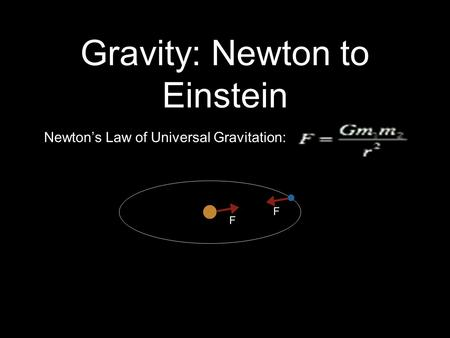 Gravity: Newton to Einstein