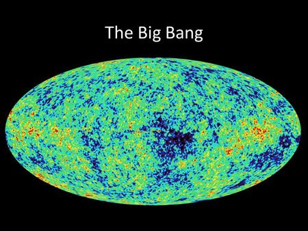 The Big Bang. CMBR Discussion Why can't the CMBR be from a population of unresolved stars at high redshift?