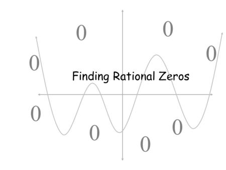 Finding Rational Zeros.