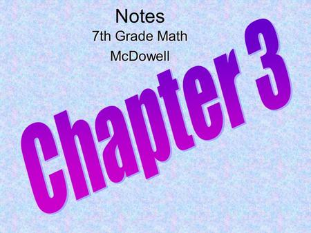 Notes 7th Grade Math McDowell Chapter 3.
