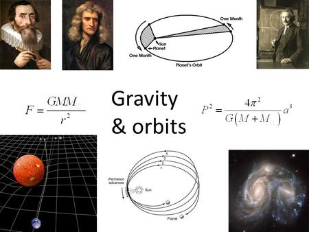 Gravity & orbits. Isaac Newton (1642-1727) developed a mathematical model of Gravity which predicted the elliptical orbits proposed by Kepler Semi-major.