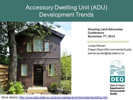 Accessory Dwelling Unit (ADU) Development Trends More details: