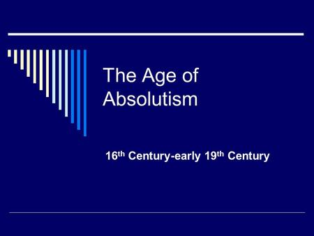 thematic essay on absolutism