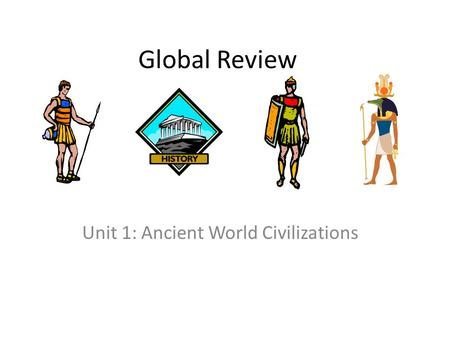 Unit 1: Ancient World Civilizations