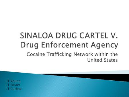 Cocaine Trafficking Network within the United States LT Young LT Foster LT Carline.